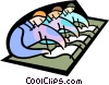 Vector Clipart illustration  of a Symbolic people; education