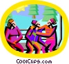 skiing; chair lift Vector Clip Art picture
