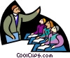 Vector Clip Art graphic  of a symbolic people; business