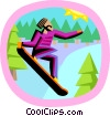 snowboarding Vector Clipart illustration