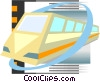 Vector Clipart graphic  of a Commuter train