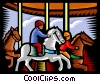 merry-go-round Vector Clip Art graphic