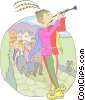 Vector Clipart graphic  of a Pied piper