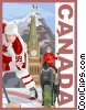 Canada postcard design Vector Clipart illustration
