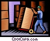 worker at warehouse Vector Clipart picture