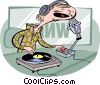 Disc jockey Vector Clipart picture