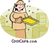 Vector Clip Art picture  of a bee keeper