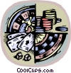 Vector Clipart graphic  of a casino gambling
