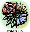 Vector Clip Art graphic  of a flower varieties