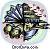 Vector Clipart picture  of a Japanese themes