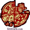 Vector Clip Art image  of a casino gambling