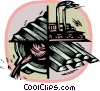 Vector Clipart graphic  of a steel industry