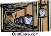 Vector Clip Art graphic  of a mining industry