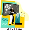 Vector Clip Art graphic  of a scientific education