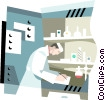 Vector Clip Art graphic  of a scientific research