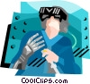 virtual reality Vector Clipart illustration