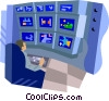 Vector Clipart picture  of a surveillance