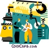 Vector Clip Art graphic  of a industrial production