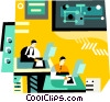 technology team research Vector Clipart image