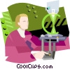 Scientific testing Vector Clipart illustration
