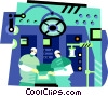 Vector Clipart picture  of a technological components