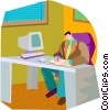Vector Clip Art image  of a scheduling appointments