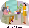 Vector Clipart illustration  of a Discussing agenda