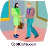 Vector Clipart illustration  of a business partners
