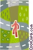 Vector Clipart illustration  of a choosing your own path