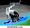 Vector Clipart illustration  of a environmental pollution