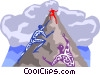 climbing to the top Vector Clip Art graphic