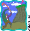Vector Clip Art graphic  of a hole in one
