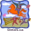 Vector Clip Art graphic  of a leaping over the competition
