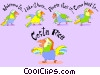 Vector Clip Art graphic  of a Costa Rica
