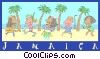 Jamaican beach party Vector Clipart image