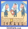Vector Clip Art picture  of a Israeli scholars