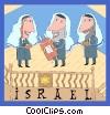 Israeli scholars Vector Clip Art image
