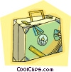 luggage, world travel Vector Clipart picture