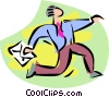 Vector Clip Art image  of a rush job
