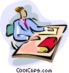 Vector Clip Art image  of a preparation to work