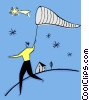 Vector Clipart picture  of a catching a star