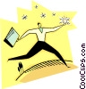Vector Clipart graphic  of a chasing the ideas