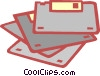 Vector Clipart image  of a computer disks