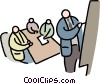 Vector Clip Art image  of a presenting the idea