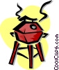 Vector Clipart picture  of a barbecue
