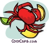 Vector Clipart graphic  of a crab