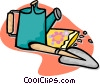 Vector Clip Art picture  of a gardening tools
