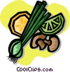 vegetables, mushrooms Vector Clipart graphic