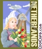 Vector Clip Art picture  of a Netherlands postcard design