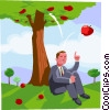 Law of gravitation Vector Clipart illustration